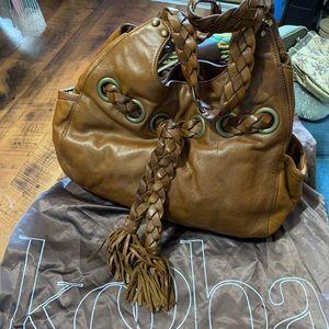 Kooba brown tan leather tassel Bag